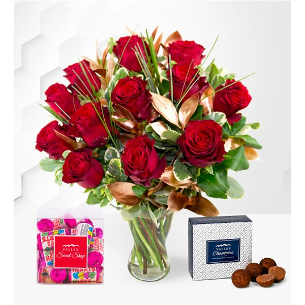 12 Luxury Red Rose Treat
