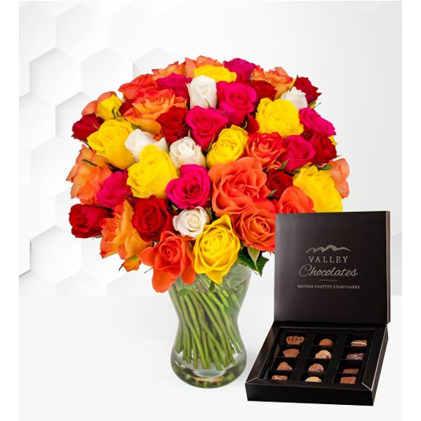 40 Roses with Chocolates