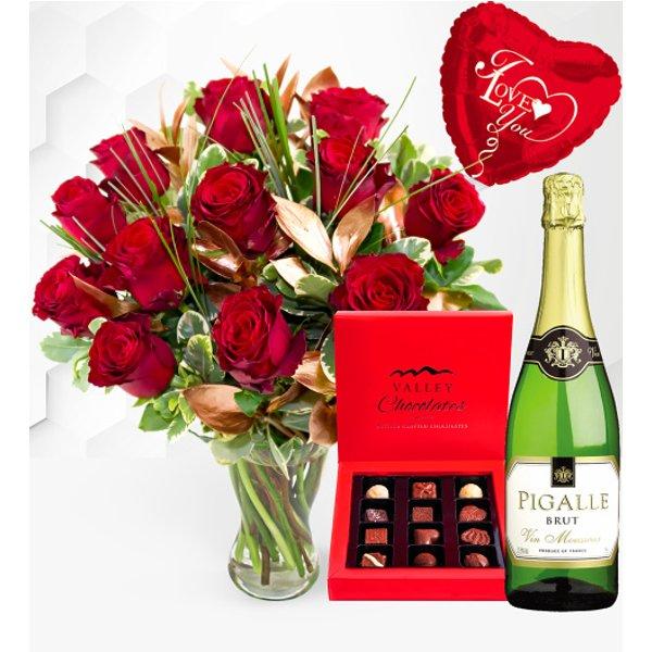12 Luxury Red Rose Surprise