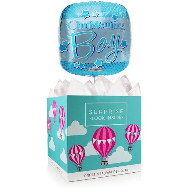 Boy Christening - Balloon in a Box Gifts - Boy Christening Balloons - Balloon Gifts - Balloon Gift Delivery