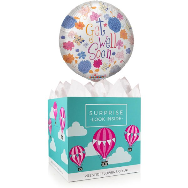 Get Well Soon Balloon - Balloon in a Box Gifts - Balloon Gifts - Balloon Gift Delivery - Get Well Soon Gifts