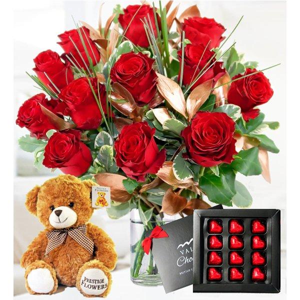 Luxury 12 Roses Gift Bundle