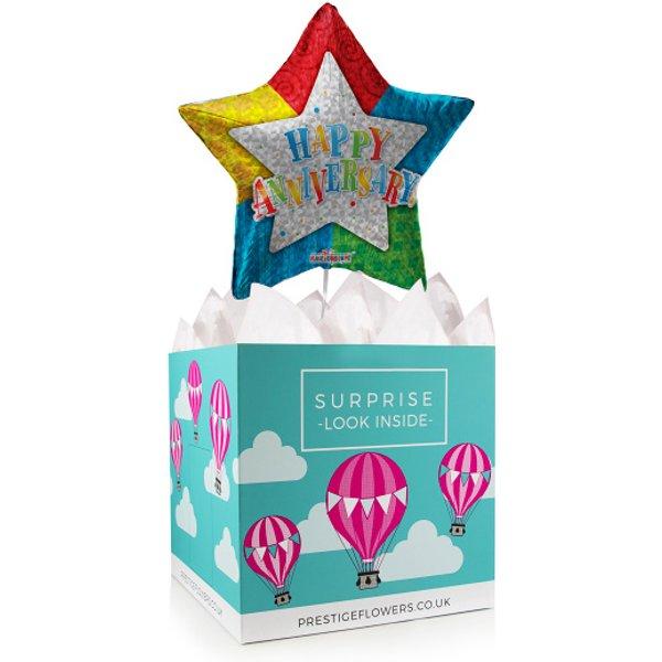 Anniversary Balloon Box - Balloon in a Box Gifts - Anniversary Balloons - Anniversary Balloon Gifts - Balloon Gifts