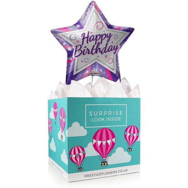 Birthday Star - Balloon in a Box Gifts - Balloon Gifts - Birthday Balloons - Birthday Balloon in a Box