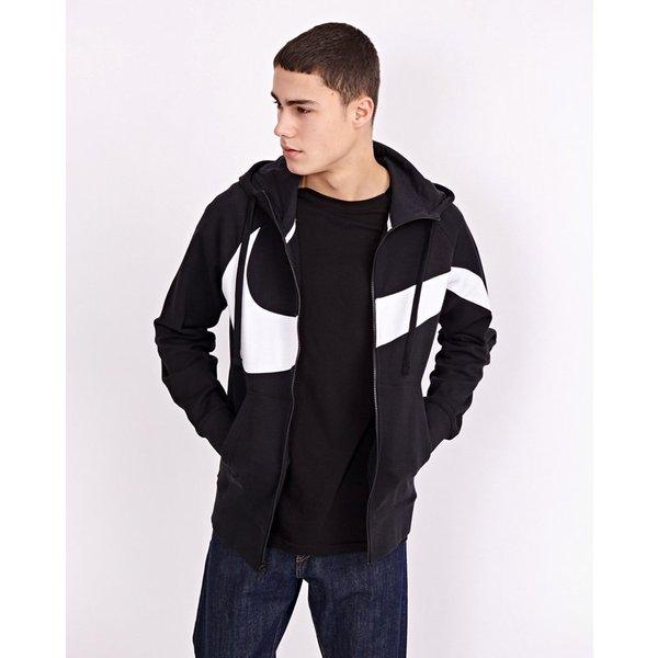 Nike Nsw Swoosh Full Zip Hoodie men's Sweatshirt in Black. Sizes available:UK XL