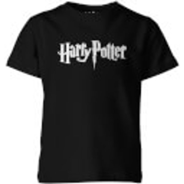 Harry Potter Logo Kid's Black T-Shirt - 7-8 Years - Black