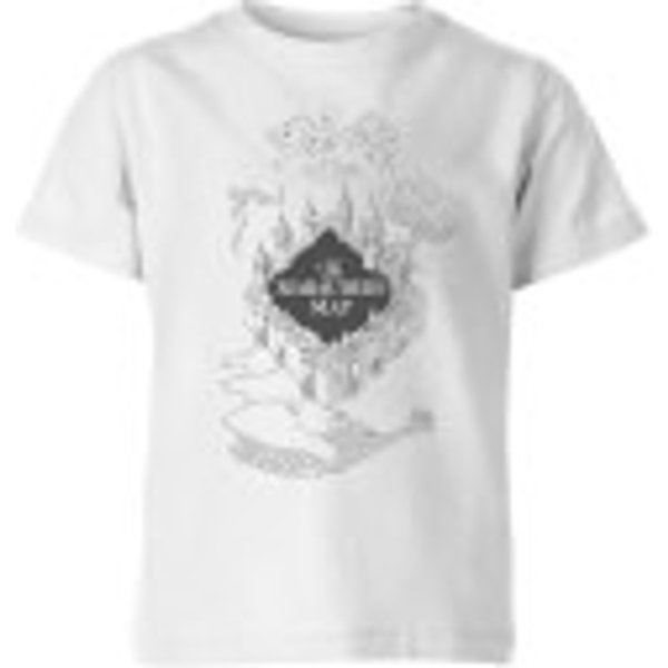 Harry Potter The Marauder's Map Kids' T-Shirt - White - 5-6 Years - White