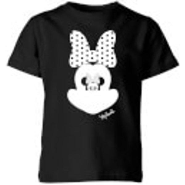 T-Shirt Enfant Disney Minnie Mouse Miroir - Noir - 9-10 ans - Noir