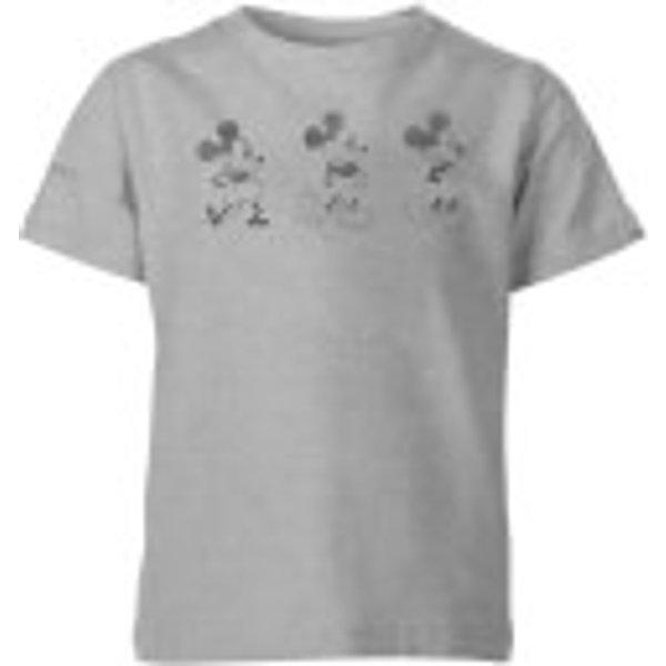 T-Shirt Enfant Disney Mickey Mouse 3 Poses - Gris - 11-12 ans - Gris