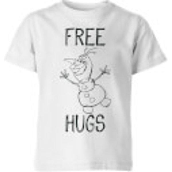 Disney Frozen Olaf Free Hugs Kids' T-Shirt - White - 7-8 Years - White