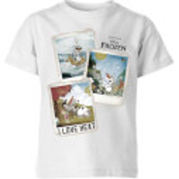 Disney Frozen Olaf Polaroid Kids' T-Shirt - White - 3-4 Years - White