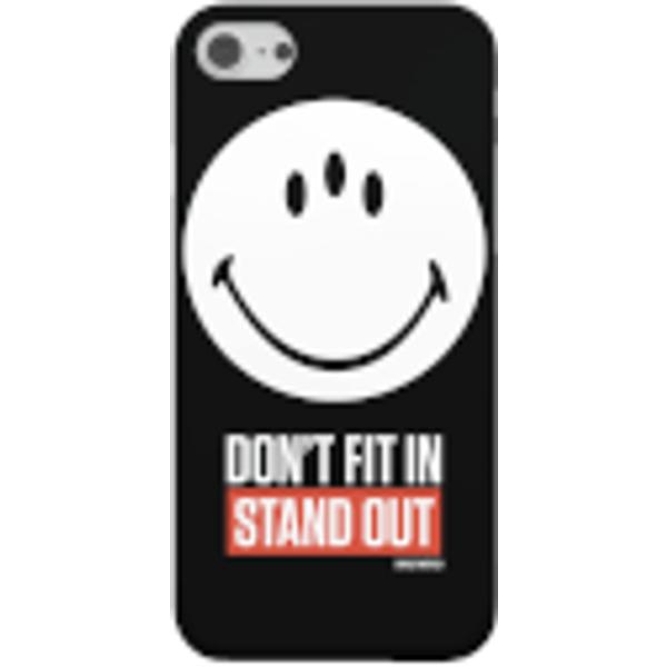 Smiley World Slogan Don't Fit In, Stund Out Smartphone Hülle für iPhone und Android - Samsung S8 - Snap Hülle Matt