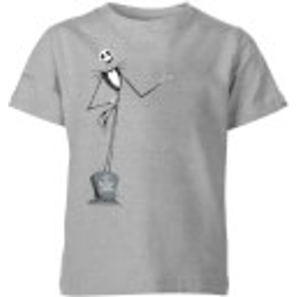 The Nightmare Before Christmas Jack Skellington Full Body Kids' T-Shirt - Grey - 7-8 ans - Gris