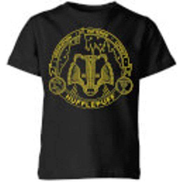 Harry Potter Hufflepuff Badger Badge Kids' T-Shirt - Black - 3-4 ans - Noir