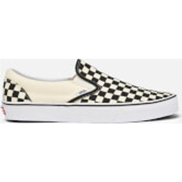 Vans Slip-On checkerboard plimsolls in black - Black