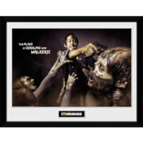 Photographie encadrée The Walking Dead Glenn Attack 30 x 40 cm