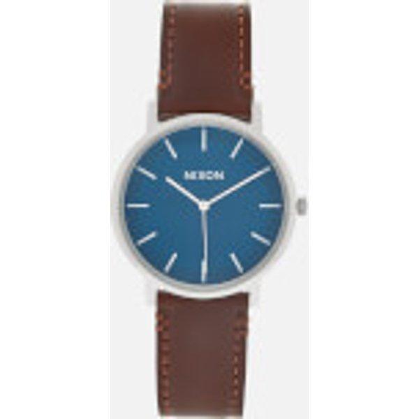 Nixon Men's The Porter Leather Watch - Navy/Brown
