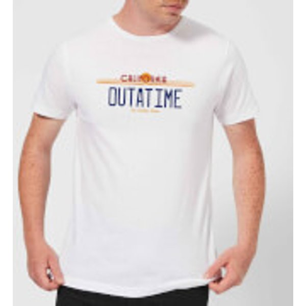Zurück In Die Zukunft Outatime Plate T-Shirt - Weiß - S - Weiß