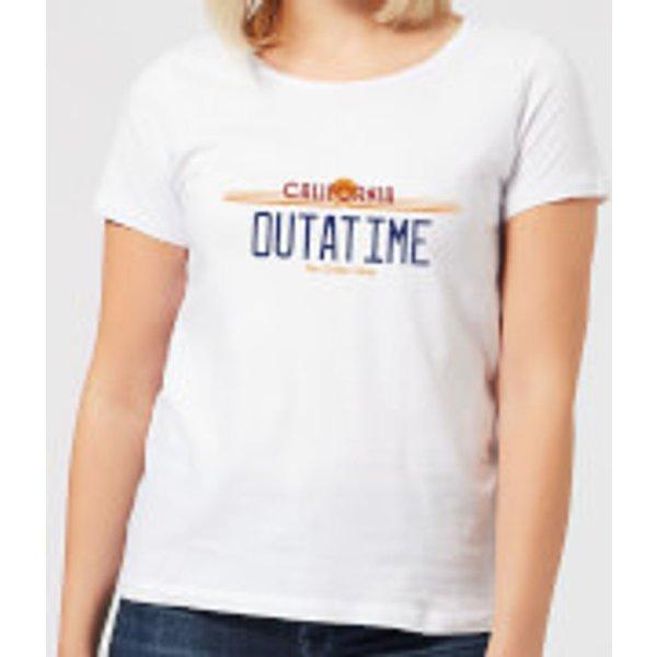 Zurück In Die Zukunft Outatime Plate Damen T-Shirt - Weiß - XL - Weiß