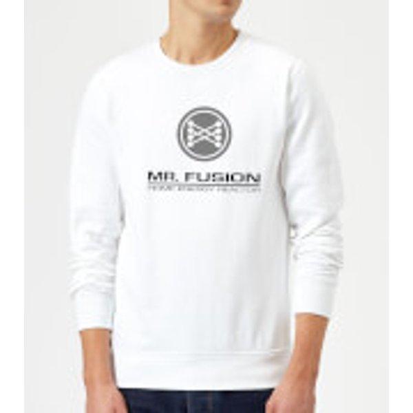 Zurück In Die Zukunft Mr Fusion Pullover - Weiß - XXL - Weiß