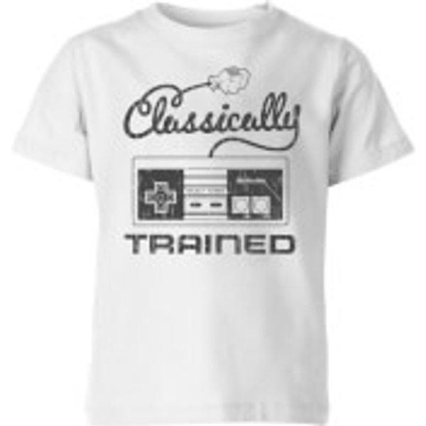 T-Shirt Enfant Retro Classically Trained - Nintendo - Blanc - 7-8 ans - Blanc