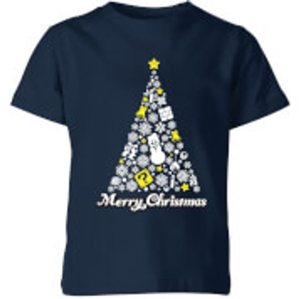 T-Shirt de Noël Enfant White Christmas Joyeux Noël - Super Mario Nintendo - Bleu Marine - 7-8 ans - Navy