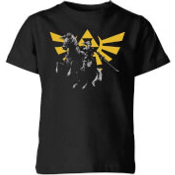 T-Shirt Enfant Hyrule Link - The Legend Of Zelda Nintendo - Noir - 11-12 ans - Noir
