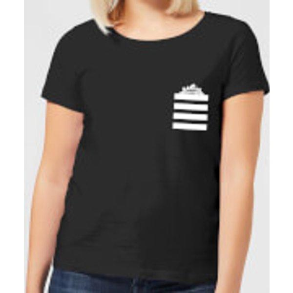 Looney Tunes Taz Stripes Pocket Print Damen T-Shirt - Schwarz - XS - Schwarz