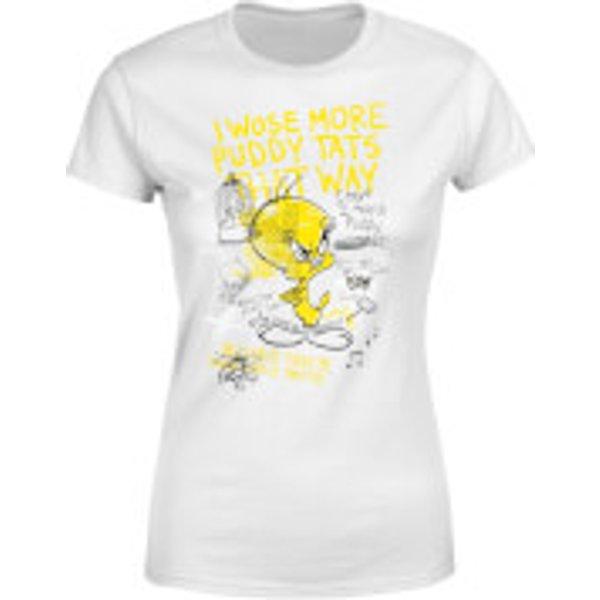 Looney Tunes Tweety Pie More Puddy Tats Damen T-Shirt - Weiß - XS - Weiß