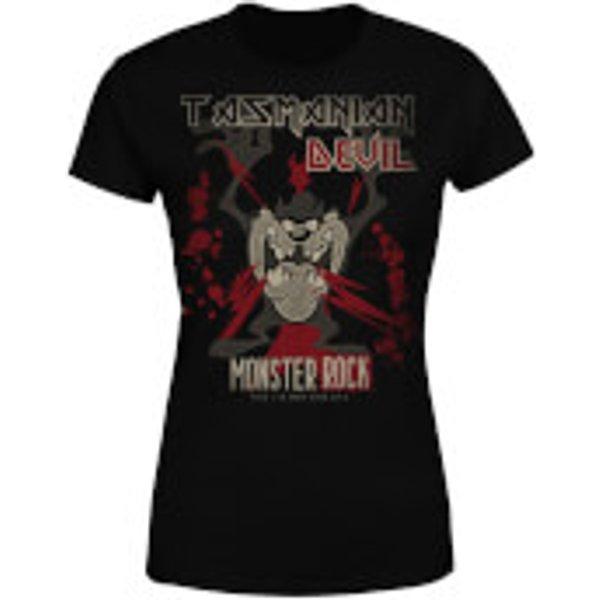 Looney Tunes Taz Monster Rock Damen T-Shirt - Schwarz - XS - Schwarz