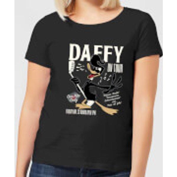 Looney Tunes Daffy Concert Damen T-Shirt - Schwarz - XS - Schwarz