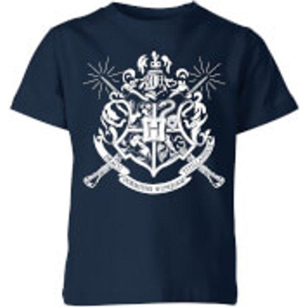 T-Shirt Enfant Emblèmes des Maisons de Poudlard - Harry Potter - Bleu Marine - 9-10 ans - Navy