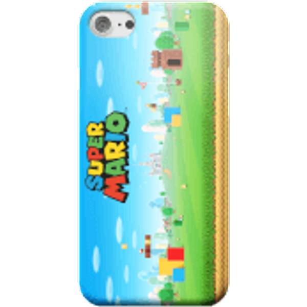 Nintendo Super Mario Full World Smartphone Hülle - Samsung S6 Edge Plus - Snap Hülle Glänzend
