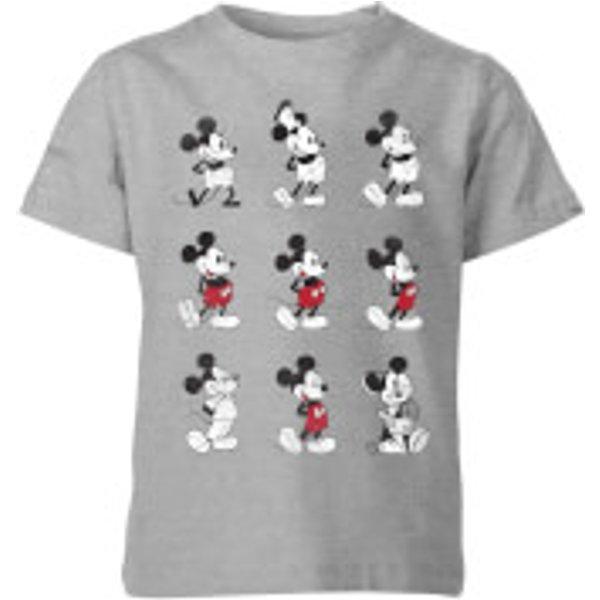 T-Shirt Enfant Disney Mickey Mouse 9 Poses - Gris - 3-4 ans - Gris