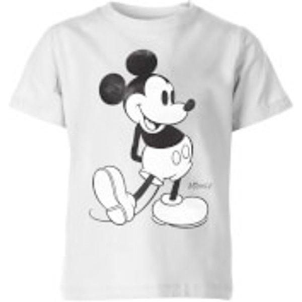 T-Shirt Enfant Disney Mickey Mouse - Blanc - 11-12 ans - Blanc