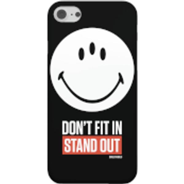 Smiley World Slogan Don't Fit In, Stund Out Smartphone Hülle für iPhone und Android - iPhone 6 - Snap Hülle Matt