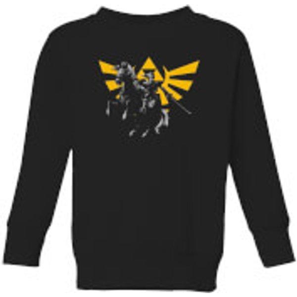Nintendo Legend Of Zelda Hyrule Link Kid's Sweatshirt - Black - 7-8 ans - Noir