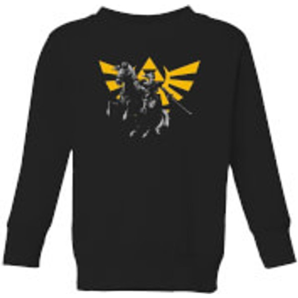 Nintendo Legend Of Zelda Hyrule Link Kid's Sweatshirt - Black - 5-6 Years - Black
