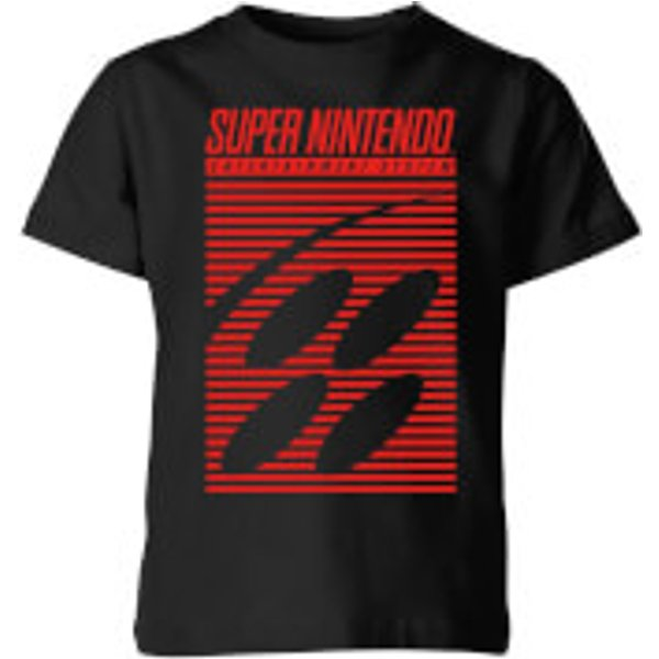 Nintendo Retro Logo Kid's T-Shirt - Black - 5-6 Years - Black