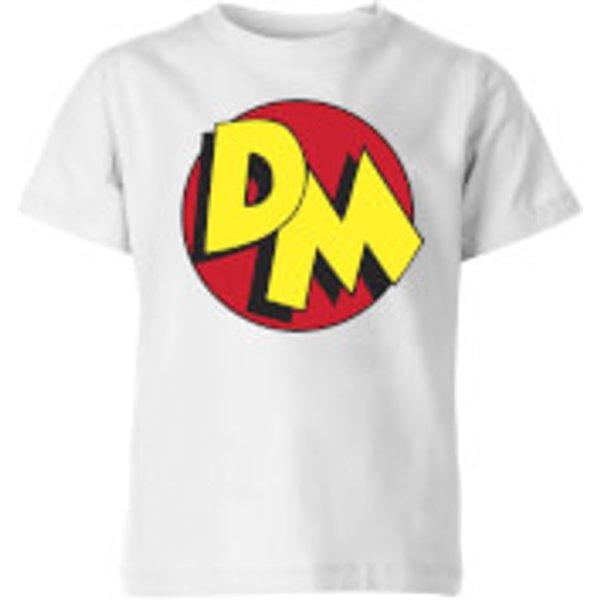 Danger Mouse DM Logo Kids' T-Shirt - White - 5-6 ans - Blanc