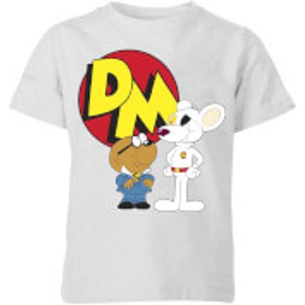 Danger Mouse DM And Penfold Kids' T-Shirt - Grey - 7-8 ans - Gris