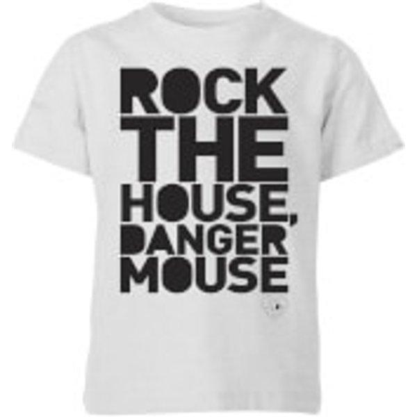 Danger Mouse Rock The House Kids' T-Shirt - Grey - 7-8 ans - Gris