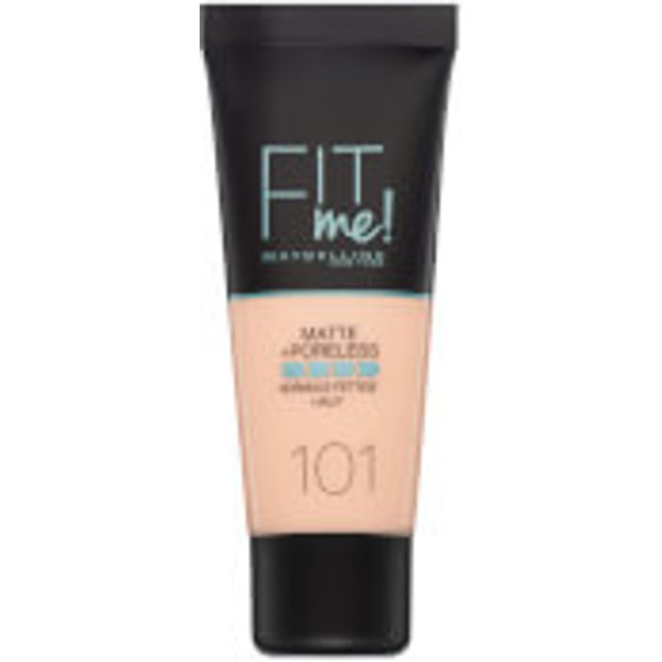 Maybelline Fit Me! Matte and Poreless Foundation 30ml (Various Shades) - 101 True Ivory