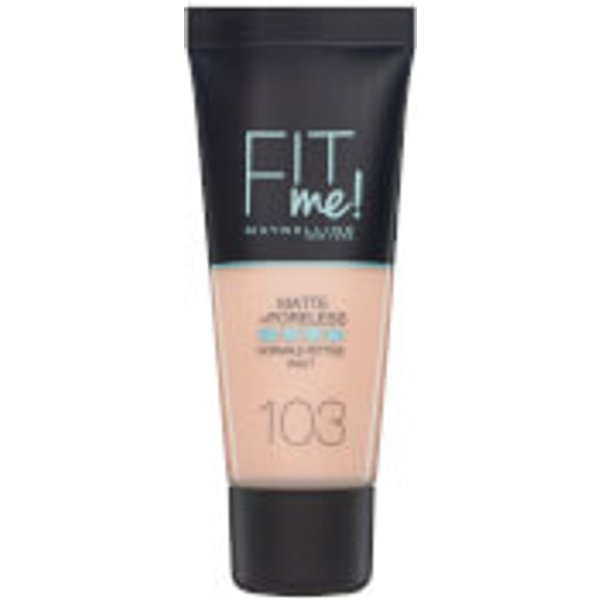Maybelline Fit Me! Matte and Poreless Foundation 30ml (Various Shades) - 103 Pure Ivory