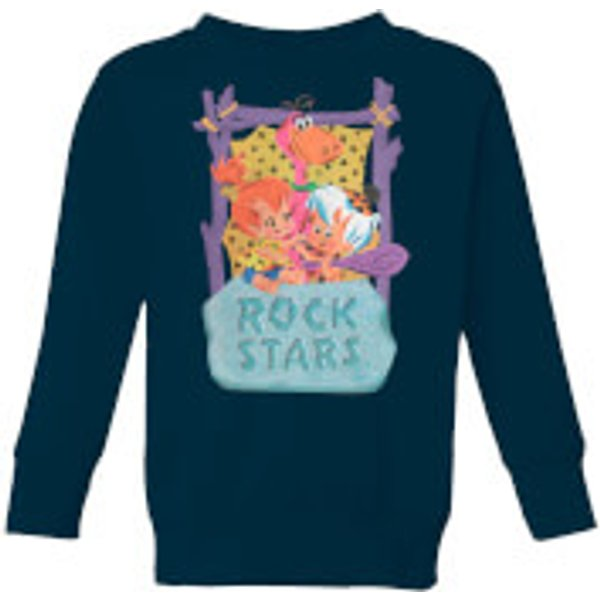 The Flintstones Rock Stars Kids' Sweatshirt - Navy - 9-10 ans - Navy