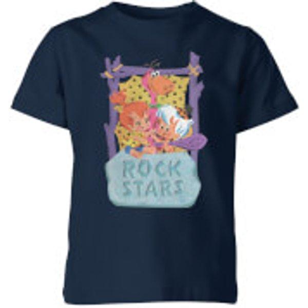 The Flintstones Rock Stars Kids' T-Shirt - Navy - 7-8 Years - Navy