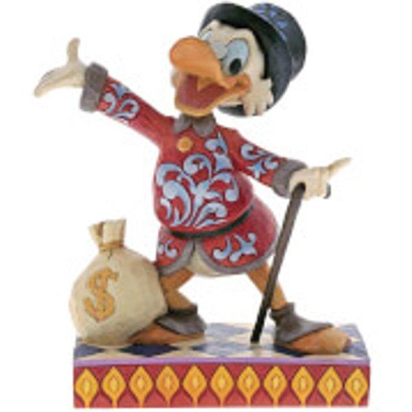 Disney Traditions Treasure Seeking Tycoon (Dagobert Duck mit Geldsack) 16,5cm