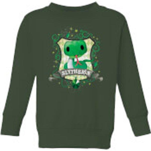 Harry Potter Kids Slytherin Crest Kids' Sweatshirt - Forest Green - 5-6 ans - Forest Green