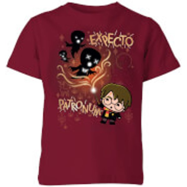Harry Potter Kids Expecto Patronum Kids' T-Shirt - Burgundy - 5-6 Years - Burgundy