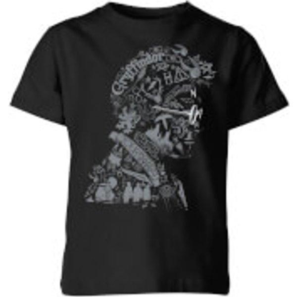 Harry Potter Harry Potter Head Kids' T-Shirt - Black - 7-8 ans - Noir